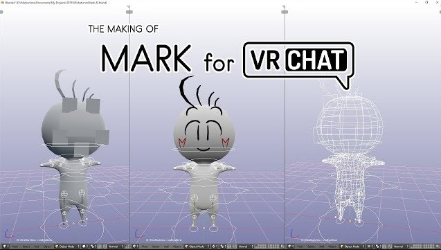 This is the creation of a virtual avatar from scratch for VR